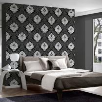 Cabecero de habitacin decorado con papel pintado The Wallpaper