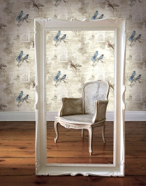 Papel pintado motivos naturales, aves