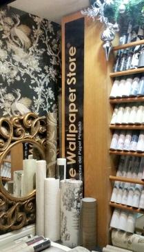 Papel pintado en Madrid, tienda The Wallpaper Store