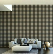 Una pared con revestimiento a cuadros es un clásico en las casas de campo