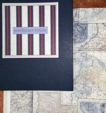 Una hermosa colección de rayas marineras en papel pintado y cartas de navegación