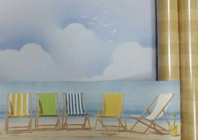 Cenefa de sillas de playa